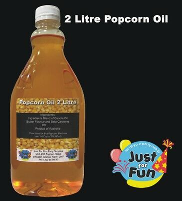 2 litre, Buttery Popcorn Popping Oil For Popcorn Machines