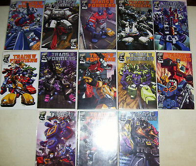 (13) Dreamwave Comics TRANSFORMERS Generation 1 2002 #1 2 3 4 5 6 A & B VF