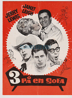 3 On A Couch  Jerry Lewis  Janet Leigh Gila Golan Original 1966 Danish Program