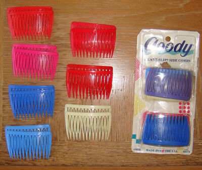 26 PC Goody USA Hair Accessories Lot of Hair Side Combs Assorted Colors