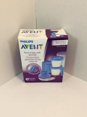 New Philips AVENT Breast Milk Storage Cups [6 Ounce -Pack of 10]  Feeding .