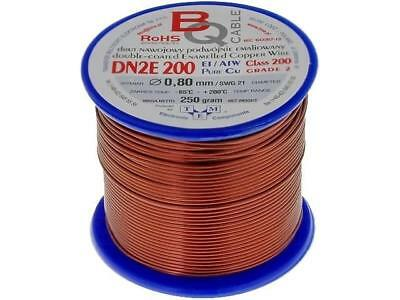 DN2E0.80/0.25 Coil wire double coated enamelled 0.8mm 0,25kg BQ CABLE