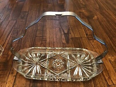 Vintage EAPC Star Of David Stick Butter Dish Chrome Handle