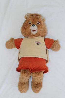 Original Teddy Ruxpin Bear Doll Vintage 1985 The Worlds of Wonder Collector