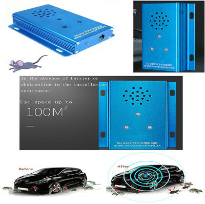Mouse Repeller Ultrasonic Pest Control Mice Repellent Under Hood in Car for Mice