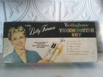 Vintage Betty Furness Westinghouse Thermometer Set Tru-Temp Cooking Instruments