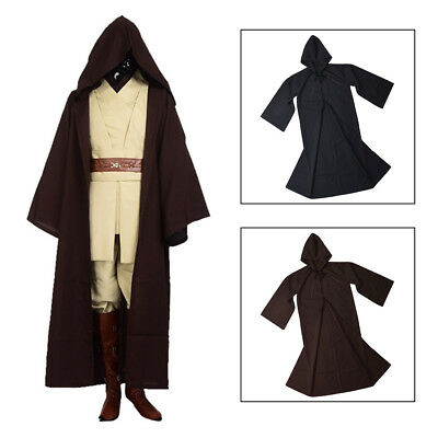 NEW Star Wars Jedi Sith Knight Hooded Cloak Robe Cape Halloween Cosplay Costume