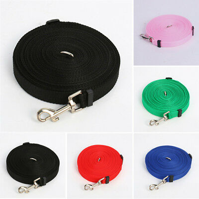 New Pet Dog Puppy Lead Leash Long Strap Nylon Rope Training Walking 1.5/6/10/15M