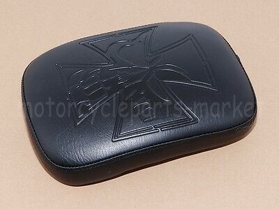 Cross Rectangular Pillion Passenger Pad Seat 8 Suction Cup For Harley Motorcycle