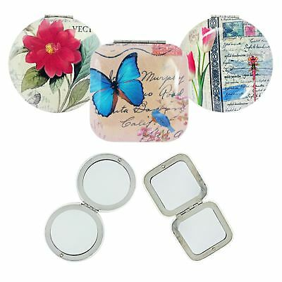 Royal Vintage Chic Compact Make Up Mirror Travel Size Double Sided Magnifying