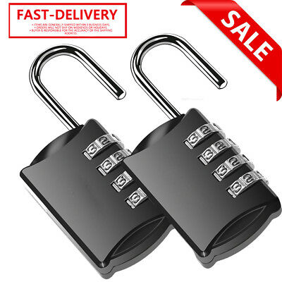 2 Pack Resettable 4 Dial Combination Lock Hard-wearing Llock