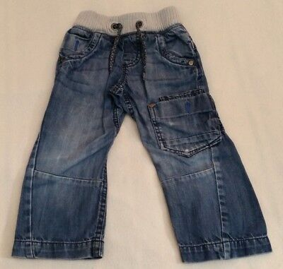 Boys Blue 100% Cotton Denim Corded Waist Jeans (3 Years) - By Next