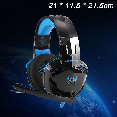 G2000 Pro Game Gaming Headset USB 3.5mm LED Stereo PC Headphone Microphone
