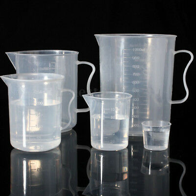 Plastic Measuring Cup 100mL-500mL Jug Pour Surface Kitchen Lab Container Gadget