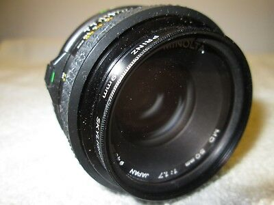 Minolta MD 50mm 1:1.7 35mm Camera Lens Prinz 49mm Skylight (1A)