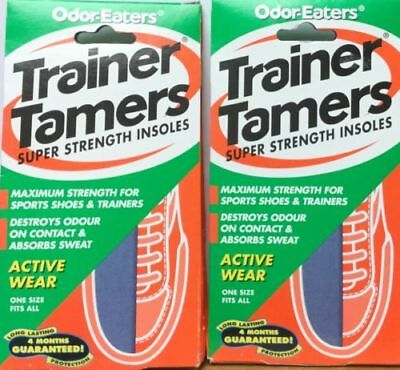 2 x ODOR-EATERS TRAINER TAMERS SUPER STRENGTH INSOLES.WASHABLE GOOD VALUE