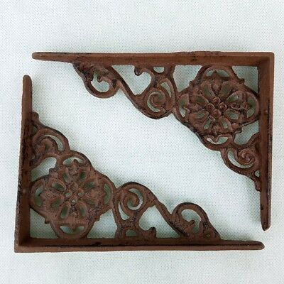 Ornate Cast Iron Shelf Angle Brackets for Shleves Antique Reproduction