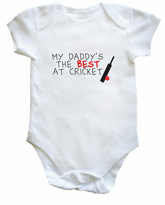 My Daddy's the Best at Cricket baby vest boys girls