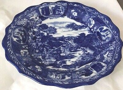 """CHINA BLUE fine porcelain exclusively for Seymour Mann 10"""" plate/bowl"""