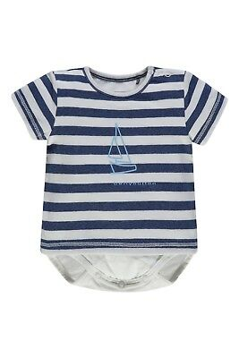 bellybutton Newborn Boy 1/4 Arm T-Shirt mit Body 2 in 1  gr. 56 / 2 Monate