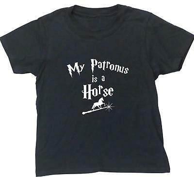 My Patronus Is A Horse kids short sleeve t-shirt