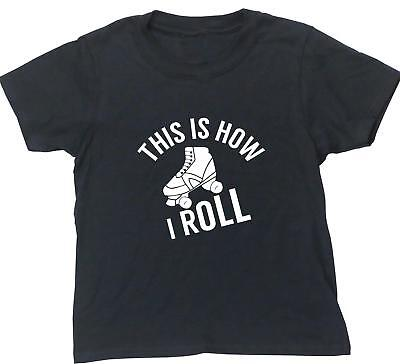 Roller skates this is how I roll kids short sleeve t-shirt