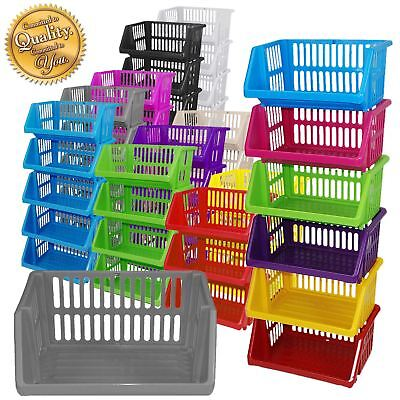 Stackable Kitchen Plastic Colour Storage Rack Stand Baskets - Made In U.K.