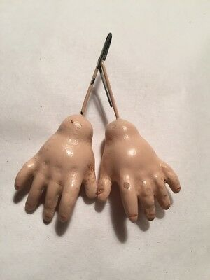 ~ Nice! Antique Style Vintage Old Store Stock Doll Hands For BJ Doll Body ~