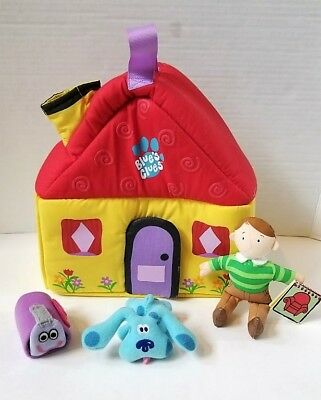 mailbox blues clues plush. Blues Clues Take Along Fabric Plush Playset House Steve Notebook Blue Mailbox E