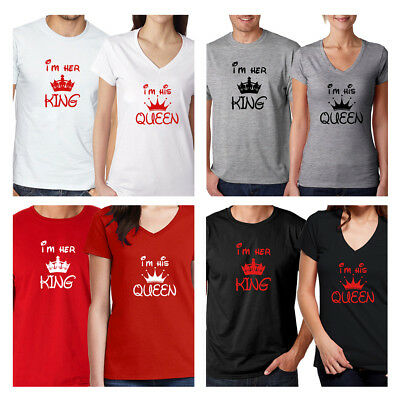 c71b0a245 Valentine's gift Couple Matching Set Men's Tee Women's T Shirt Love His and  Her