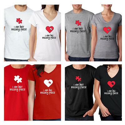 303cb0449a Valentine's gift Couple Matching Set Men's Tee Women's T Shirt Love His and  Her