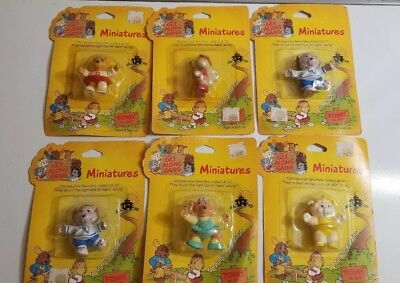 NEW Vintage 1984 The Get Along Gang Miniatures lot of 6 NIP Tomy No. 2022