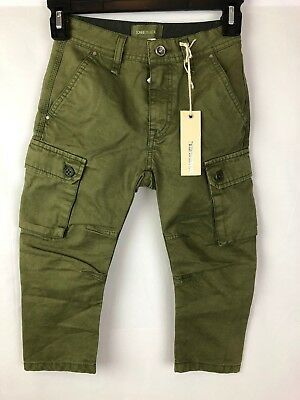 Diesel Pizzlo Boy Jeans Olive Green 5Y NWT Authentic Retail 99 USD