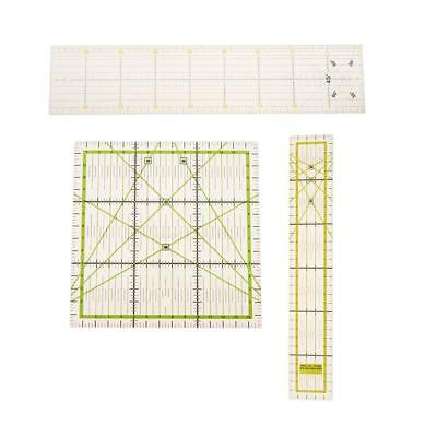 3 x Square Rectangle Clear Quilt Quilting Ruler Patchwork Sewing Ruler Craft