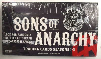 Sons of Anarchy Trading Cards Seasons 1-3 Factory Sealed Hobby Box