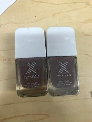 Lot Of 2 Sephora Formula X Nail Color PERFECTION .4 BRAND NEW AS PICTURED