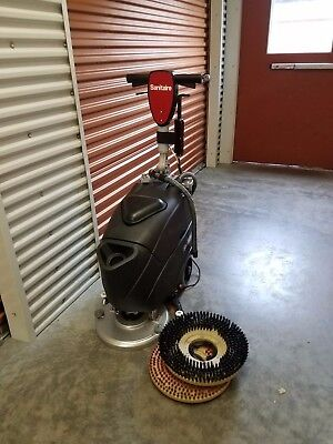 "Sanitaire SC6200A Walk Behind Auto Scrubber, 14"" cleaning width"