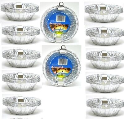 "96PK 4 3/8"" Aluminum Foil Tart Pans Disposable Mini Pot Pie Baking Plate Tins"