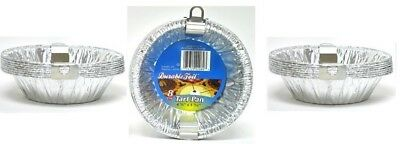 "24PK 4 3/8"" Aluminum Foil Tart Pans Disposable Mini Pot Pie Baking Plate Tins"