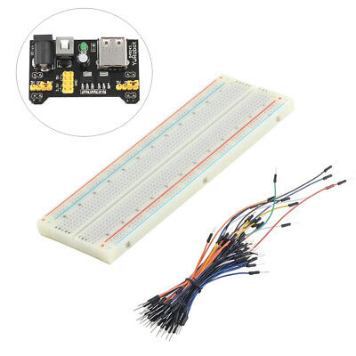 MB-102 Solderless Breadboard Protoboard 830 Tie Points 2 buses Test Circuit ATF
