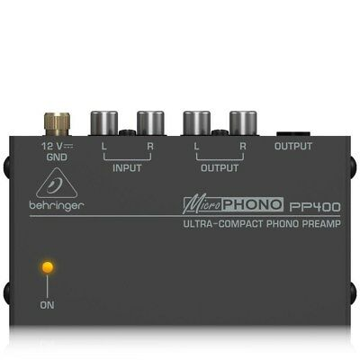 Behringer PP400 Ultra Compact Phono Preamplifier