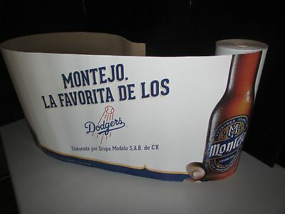 NEW 30' Montejo Los Angeles Dodgers Baseball Decorative Banner Roll Beer LA MLB