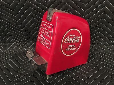 Vintage 1950's Coca Cola Vendo 59 Coin Box Mech Cover Slot Coke Part Restoration