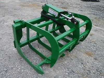 "John Deere Compact Tractor Attachment - 48"" Root Rake Grapple Bucket - Free Ship"