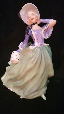 "Vintage Royal Doulton Figurine ""Autumn Breezes"" Lady ~ Bone China ~ England"