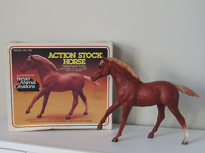 Breyer Model Horse Action Stock Horse Chestnut Foal with Original Box Vintage