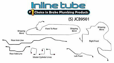 1995-01 Jeep Cherokee XJ NON ABS Preformed Hydraulic Brake Line kit STAINLESS