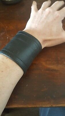 RoB Amsterdam used leather wrist wallet cuff small