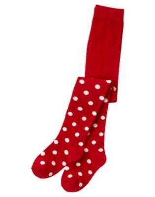 NWT 10-12 Years Gymboree VALENTINE'S DAY '11 Red Polka Dot Cotton Tights
