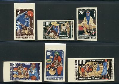 Niger Scott #117//C21 MNH IMPERF Artisans Wood Carving Weaving Pottery $$